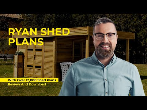 Ryan Shed Plans PDF, Review and Download (12,000 PLANS) [2019]