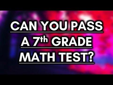 Can You Pass a 7th Grade Math Test? - 85% FAIL!