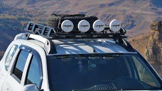 Люстра на экспедиционный багажник и стильная решётка радиатора. Обзор и испытания с квадрокоптера