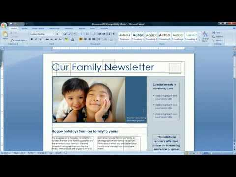 How to Create a Newsletter in Microsoft Word 2007 - YouTube
