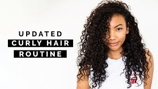 UPDATED WASH + GO CURLY HAIR ROUTINE!