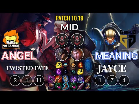 SN Angel Twisted Fate vs GEN Meaning Jayce Mid - KR Patch 10.19