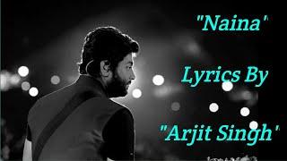 Naina Song With Lyrics (Hindi) - Dangal | Arijit Singh | Pritam | Amir Khan