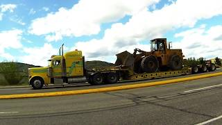 LOWBED Trucks #2 -- Various lowbed (Lowboy) configurations hauling industrial equipment.