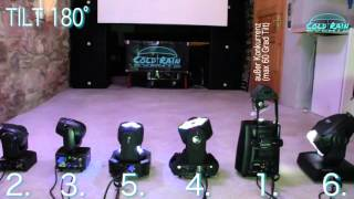 Mini Movingheads / Movinglights - Vergleich: ADJ | Varytec | Stairville