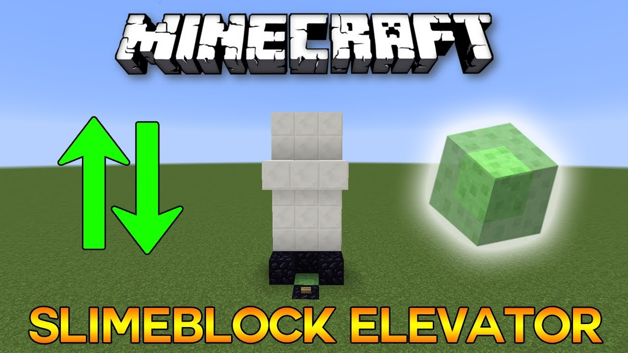 Minecreaft Most Compact Slimeblock Elevator Tutorial Youtube