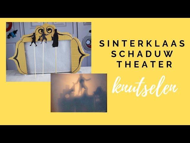 Sinterklaas spelen, een Sinterklaas theater knutselen