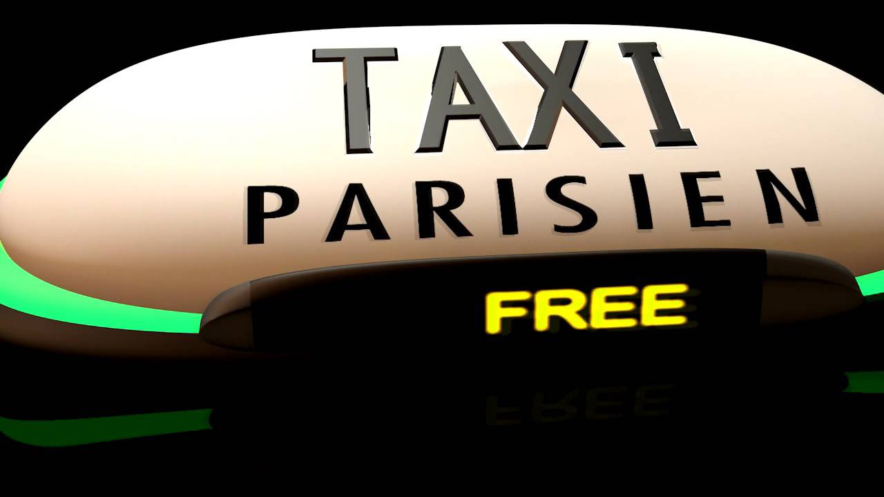 concept lumineux taxi parisien youtube. Black Bedroom Furniture Sets. Home Design Ideas