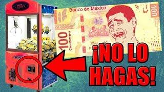 NUNCA METAS 100 PESOS EN LA MAQUINA DE PELUCHES thumbnail