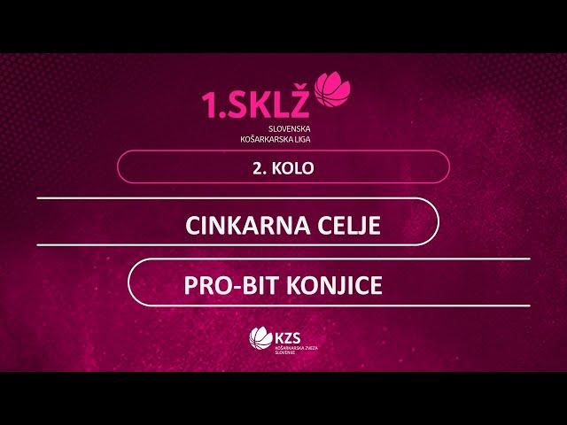 Cinkarna Celje : Pro-Bit Konjice - 2. kolo - 1. Ž SKL - Sezona 2020/21 - 1/2