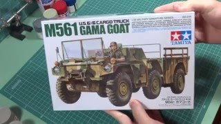 Tamiya 1/35 M561 Gama Goat unboxing video and photo review.