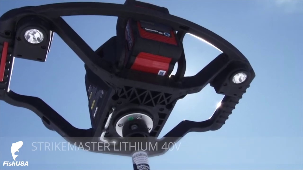 StrikeMaster Lithium 40v Electric Ice Auger with Tony Roach