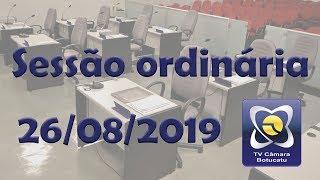 Sessão ordinária 26/08/2019