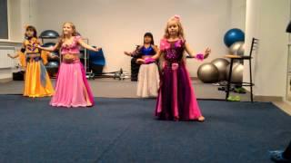Танец, открытый урок по восточным детским танцам