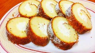 പാനിൽ നല്ല soft  സ്വിസ് റോൾ ||Swiss roll in Tawa|| How to Make Cake roll||  Swiss roll Without Oven