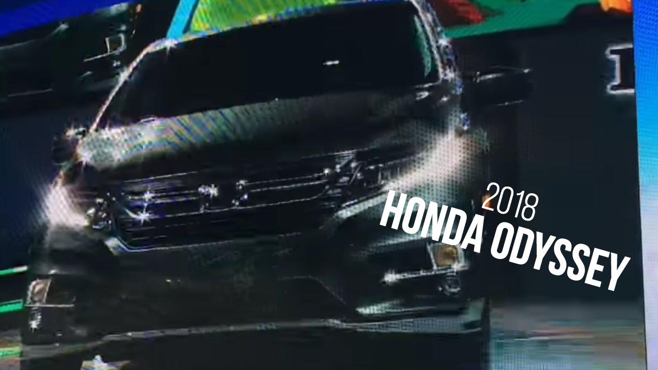 2018 honda odyssey reveal at detroit auto show youtube for Detroit auto show honda odyssey