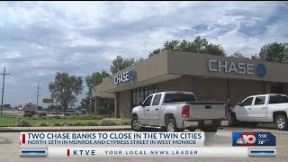 Chase Bank Locations to close
