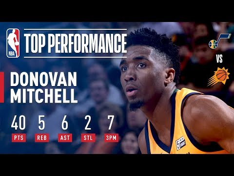 Donovan Mitchell Notches 40 Points, 5 Rebounds, 6 Assists vs The Suns