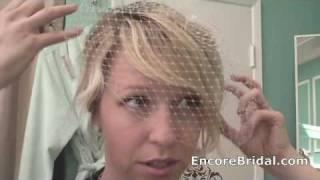 How to Wear A Circular Cut Birdcage Veil (v105) - w/ Jolene Picone Thumbnail