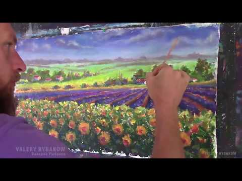 P2. How to paint Italian Tuscan painting Time Lapse tuscan painting lesson Oil tutorial Step by Step