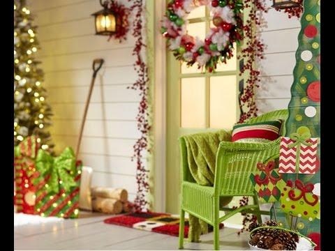 50 ideas para decorar tu puerta en navidad youtube - Adornos para la casa ...