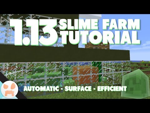 113 SLIME FARM TUTORIAL  Automatic, Efficient, Surface, Java & Bedrock Edition