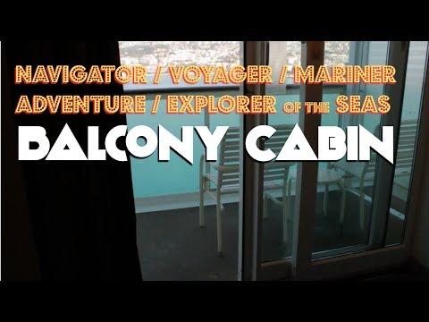 Royal Caribbean's Navigator of the Seas Balcony Cabin (Mariner, Explorer, Adventure, and Voyager)