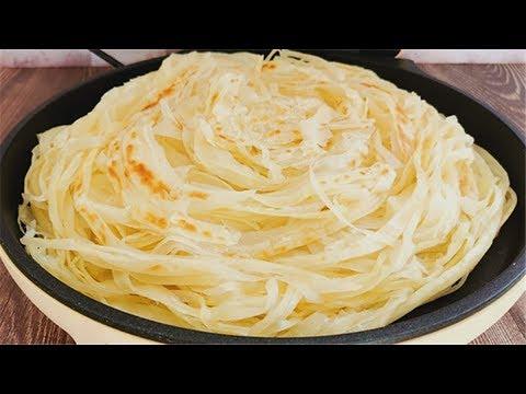 家常烙餅也能做出千絲萬縷,壹切壹抻,做法簡單無難度,外酥裏軟
