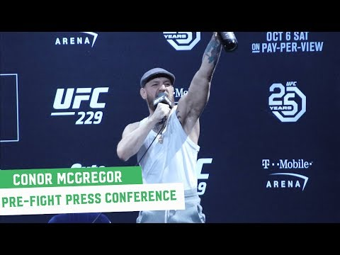 Conor McGregor Full Las Vegas Press Conference || UFC 229
