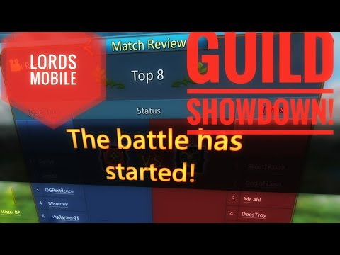 Lords Mobile - Guild Showdown Rank 9 Play By Play Commentary