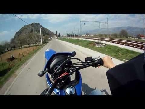 Suzuki DR125SM Wheelie GoPro