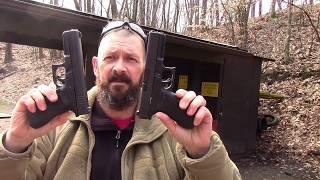 Glock 21 vs the Glock 22 service pistol shoot out