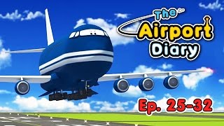 The Airport Diary - 25-32 episodes - Cartoons about planes - Best animation for kids