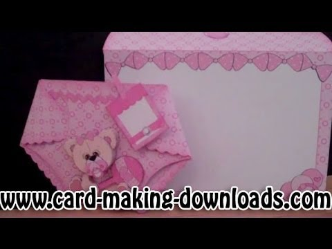 How To Make A Nappy Card Www Card Making Downloads Com Youtube