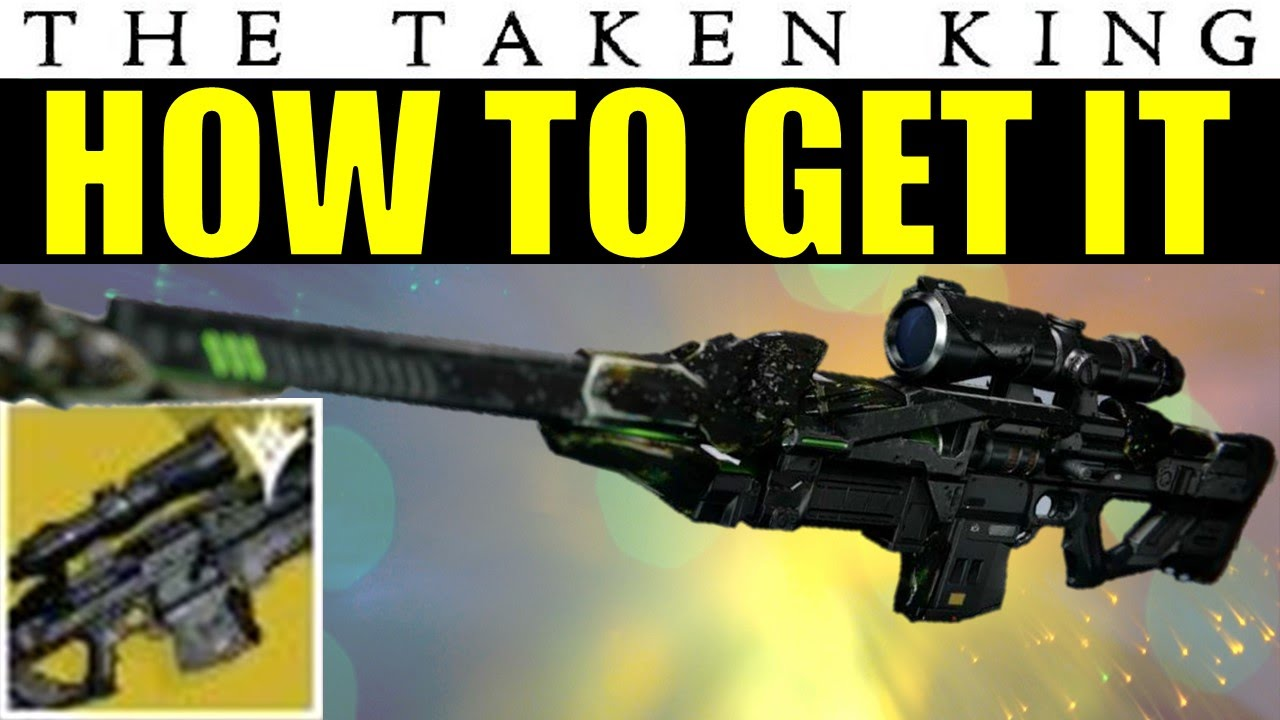 Destiny: How to Get The Black Spindle | SECRET EXOTIC SNIPER RIFLE in The Taken King! - YouTube
