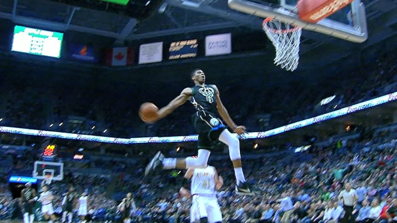 Giannis Jams MONSTER Full Extension Windmill In Milwaukee