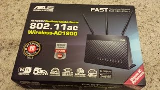unboxing and Initial Setup ASUS RT AC68U
