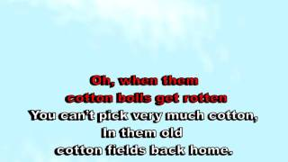 Cotton Field - Creedence (karaoke)