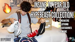 INSANE 14 YEAR OLD HYPEBEAST COLLECTION! (Clothing, Sneakers, & More)