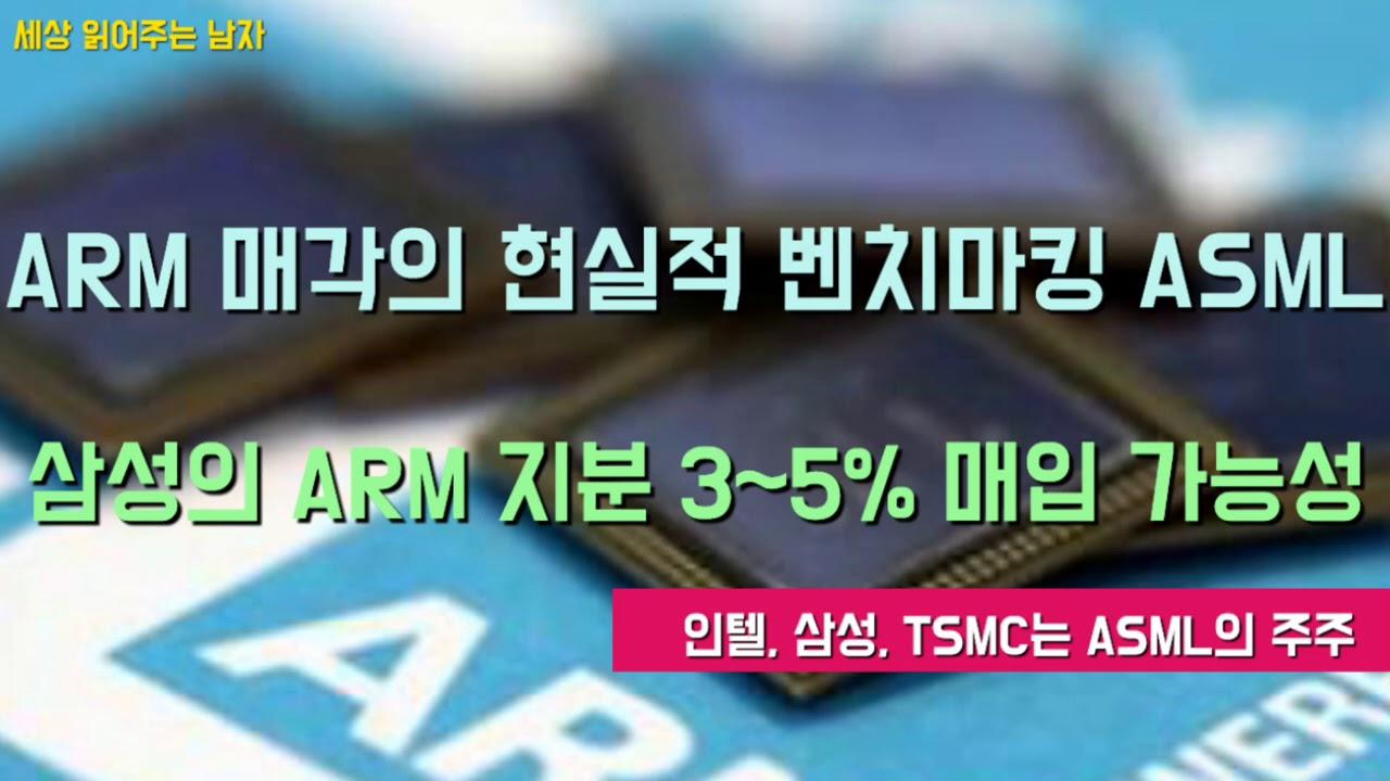 삼성이 암(ARM) 지분 3~5%를 매입할수 있을까요. 암의 통매각이 어려운 상황에서 ASML사례가 벤치마킹될 수 있습니다.