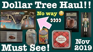 Dollar Tree Haul! Must see! New Finds!- November 2, 2019