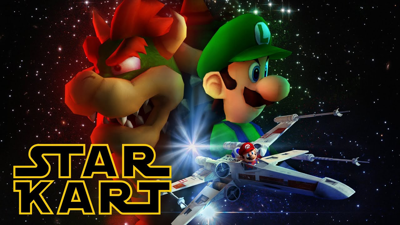 star kart star wars mario kart youtube. Black Bedroom Furniture Sets. Home Design Ideas