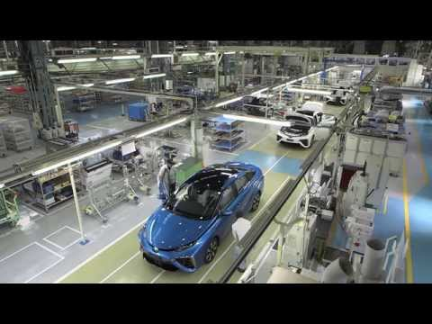 Mirai production line: plant interior and parts picking