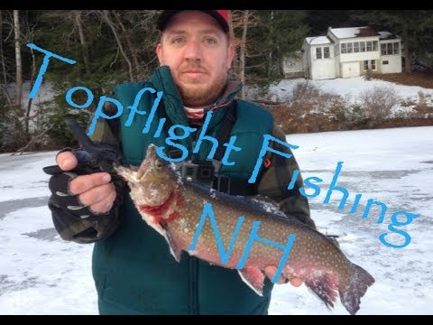 New Hampshire FIRST ICE - Big Brook Trout