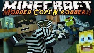 Minecraft Mini-Game : MODDED COPS N ROBBERS! SPONGEBOB!