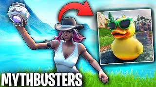 Can You Break The 1 MILLION HP Duck With A SHOCKWAVE GRENADE? | Fortnite Mythbusters