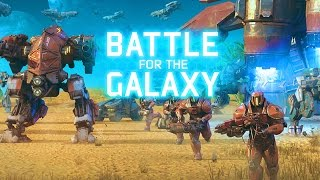CLASH OF CLANS IN THE FUTURE!!! | Battle For The Galaxy Strategy Game! | IOS/Android!