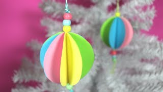 How to Make an Easy Paper Bauble | Christmas Crafts for Kids