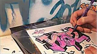 Drawing a Simple Speed Drawing Graffiti Tutorial Sketch Nozer 2012 Art