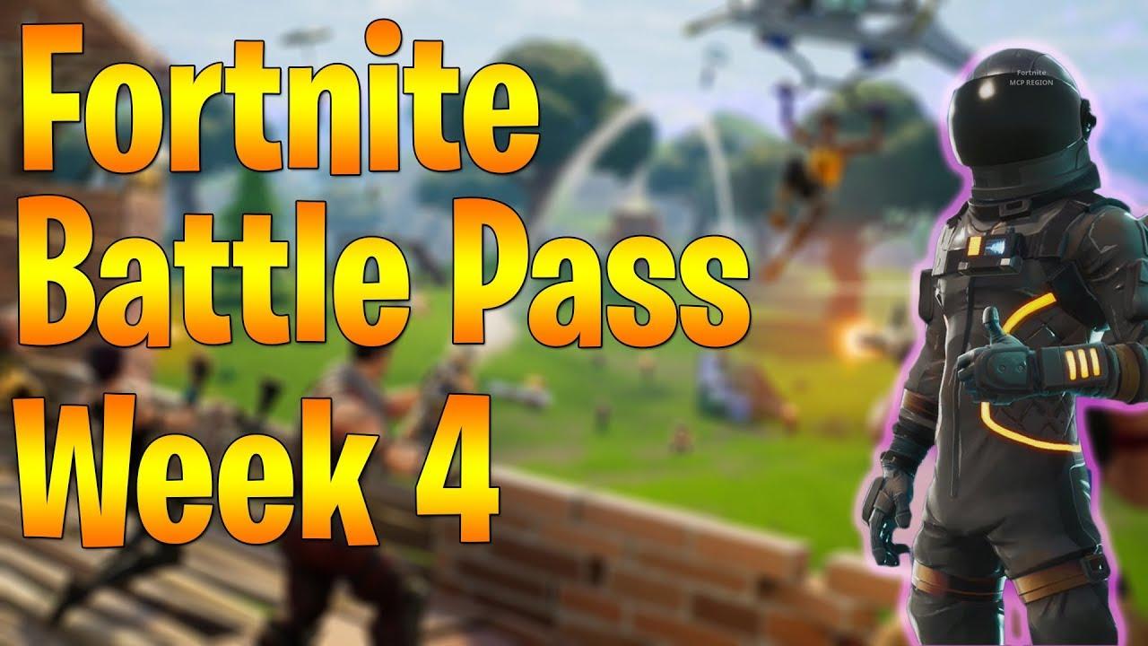 fortnite battle pass challenge guide season 3 week 4 - youtube fortnite saison 3